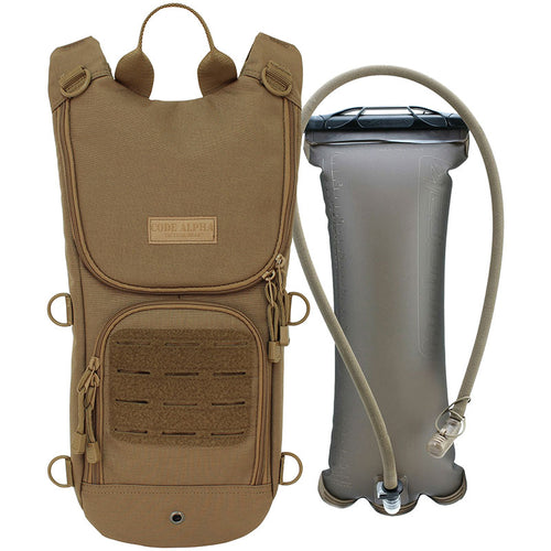 TAA Compliant- Sprinter Hydration Pack Laser Cut MOLLE- Coyote