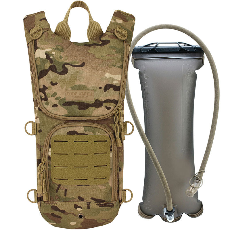 TAA Compliant- Sprinter Hydration Pack Laser Cut MOLLE- Multicam