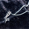 925 Silver Lovely Elk Necklace