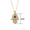Gorgeous Hand of Fatima Blue Evil Eye Pendant Necklaces