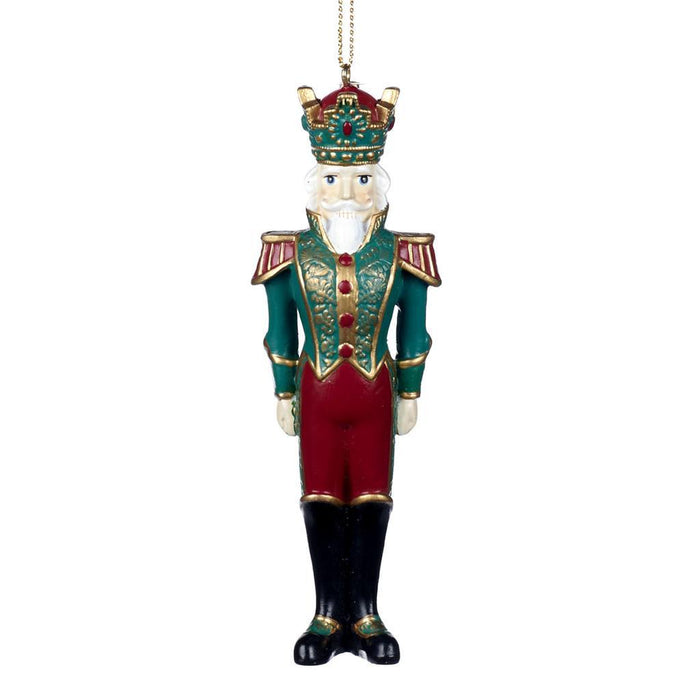 Ekrismis Orange, burgandy, green & gold nutcracker (13cm)