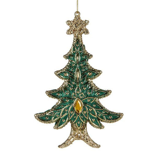 Ekrismis Green & gold jewel Christmas tree ornament (15cm)