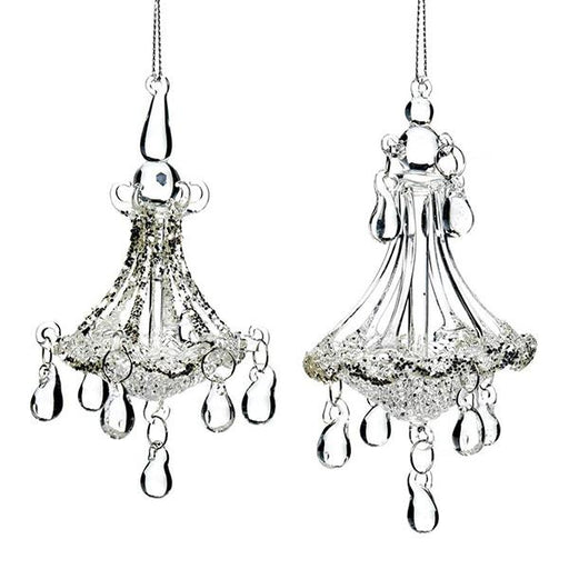 Ekrismis Glass chandelier - 2 assorted shapes (13cm)