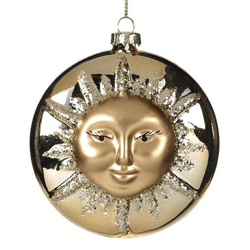 Ekrismis Gold glass sun face ornament (10cm)