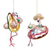 Ekrismis Pink glass beach flamingo with float - 2 assorted shapes (15,5cm)