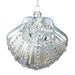Ekrismis Silver glass sequined pearl clam shell (9,5cm)
