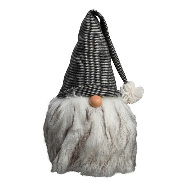 Standing gnome with hat and fur - 40cm