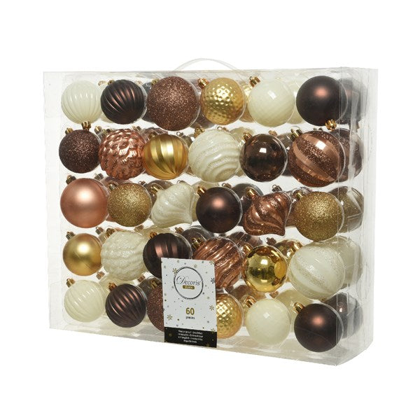 Shatterproof bauble mix WG - assorted colours