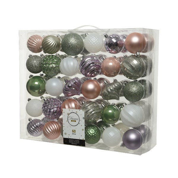 Shatterproof bauble mix NG - assorted colours