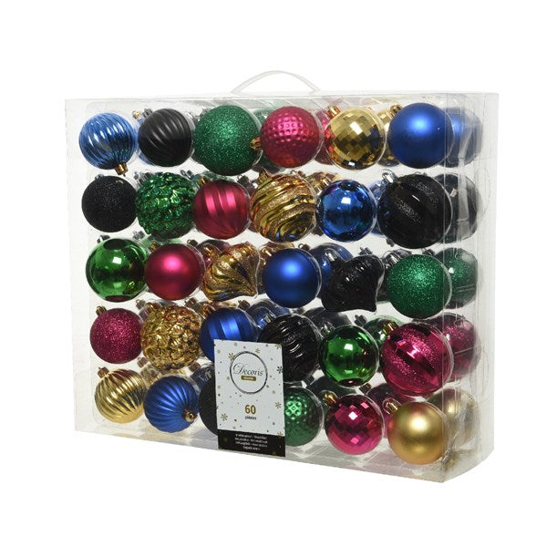 Shatterproof bauble mix MQ - assorted colours