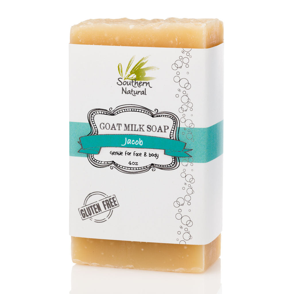 A bar of Jacob Goat's Milk Soap by Southern Natural