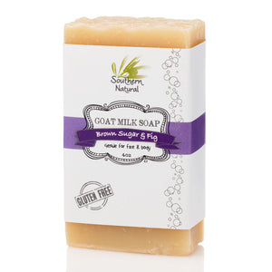 A bar of Brown Sugar & Fig Goat's Milk Soap from Southern Natural, LLC