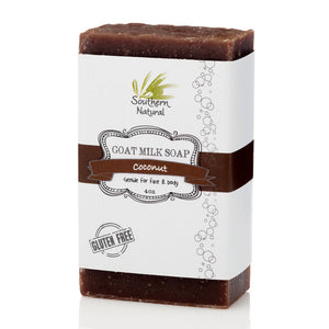 A bar of Coconut Goat's Milk Soap from Southern Natural