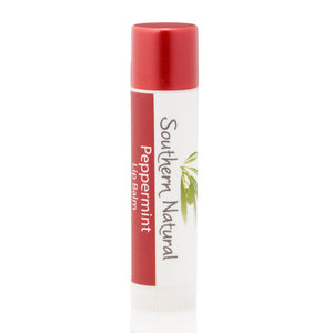 A stick of Peppermint Natural Lip Balm from Southern Natural