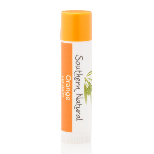 A stick of orange-scented natural lip balm from Southern Natural