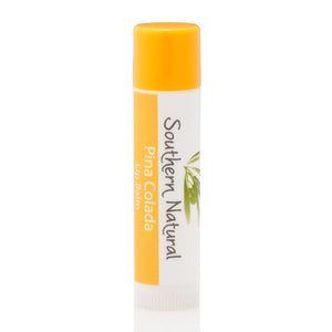 A stick of Piña Colada Natural Lip Balm from Southern Natural