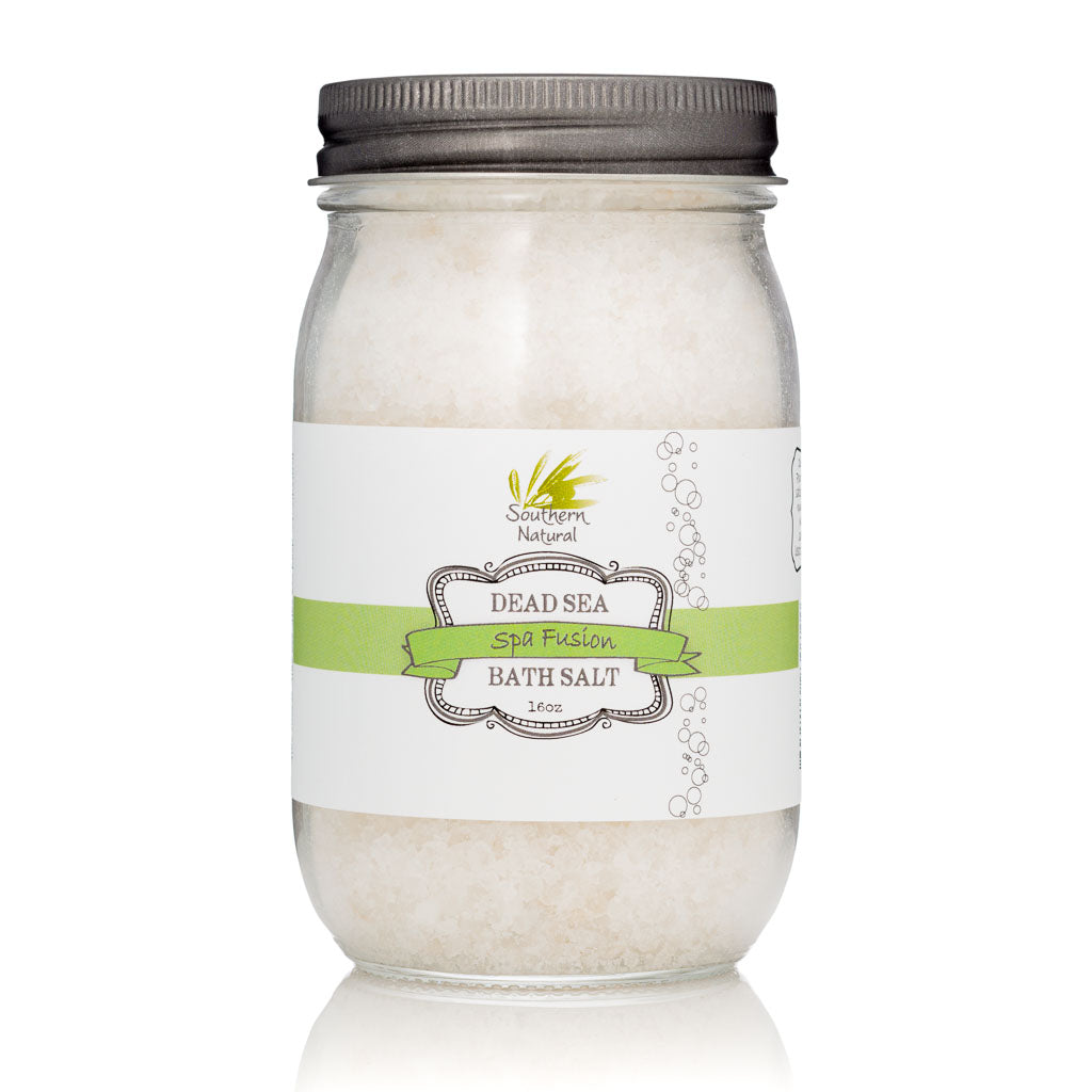 A picture of a carton of Spa Fusion Therapy Dead Sea Bath Salt, sold by Southern Natural