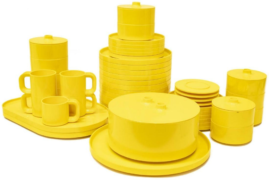 Massimo Vignelli | Stacking Dinner Service - Yellow 47 Pieces