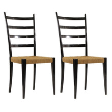 Load image into Gallery viewer, Gio Ponti | Black Ladder Back Chairs Excellent Condition - Roughan Home