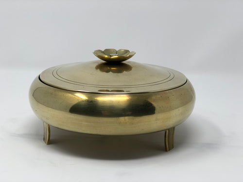 Tommi Parzinger | Brass and Glass Condiment Dish