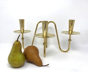 Tommi Parzinger | Brass Tripod Candlestick - Roughan Home
