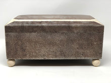 Load image into Gallery viewer, Shagreen Art Deco Style Hinged Lid Box - Roughan Home
