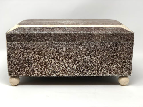Shagreen Art Deco Style Hinged Lid Box - Roughan Home