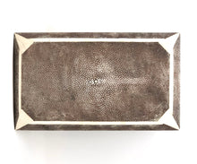 Load image into Gallery viewer, Shagreen Art Deco Style Hinged Lid Box