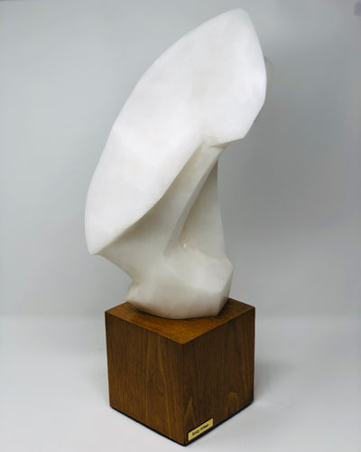 Betty Gilman | Abstract White Marble Sculpture - Roughan Home