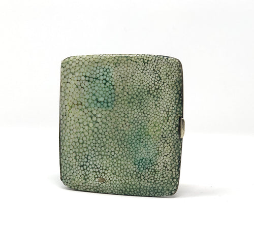 Rare English Shagreen | Antique Green Cigarette Case