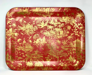 Piero Fornasetti | Red Piccolo Coromandel Tray - Roughan Home