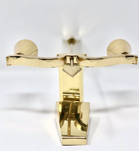 Style of Gio Ponti | Brass Arrow Italian Wall Sconces or Candle Sticks