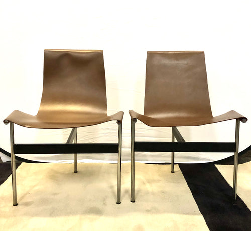 Katavolos Kelley & Little | Whiskey Leather T Chairs - Roughan Home