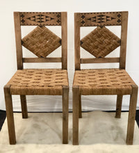 Load image into Gallery viewer, Chairs | 1940s South of France Rattan & Oak Dining Chairs