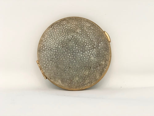 Ivory Shagreen& Brass | Antique Compact - Roughan Home