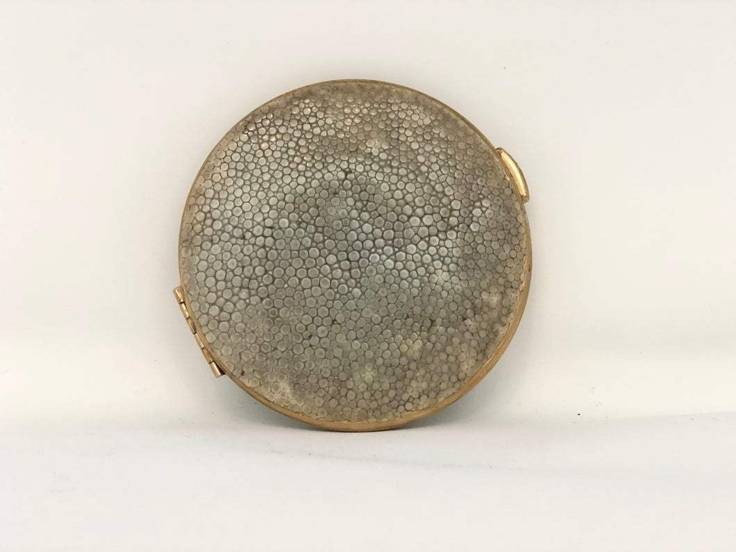 Ivory Shagreen& Brass | Antique Compact