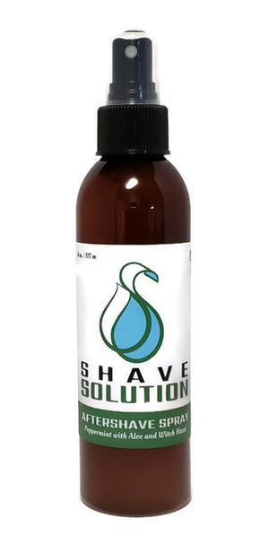 Hydrating Mist Aftershave Spray (Peppermint with Aloe & Witch Hazel)