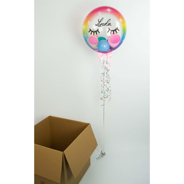 Personalisierter Bubble Ballon - Magic Unicorn