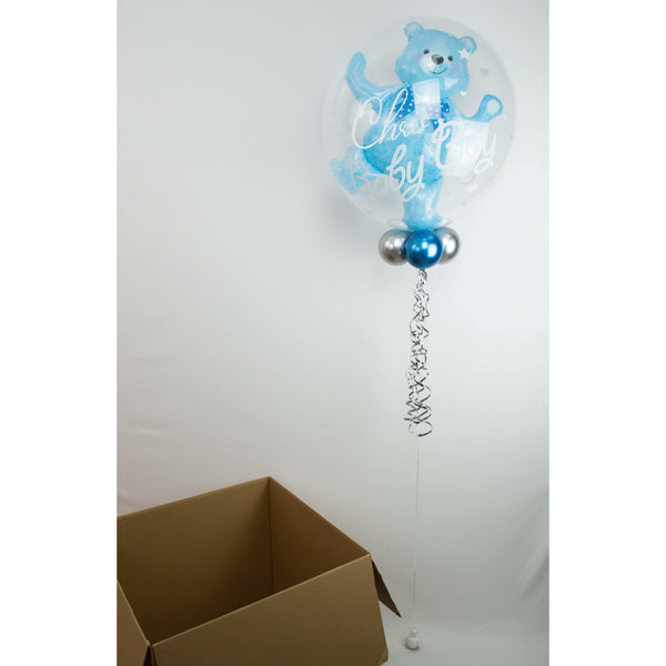 Personalisierter Bubble Ballon - Baby Bär Boy - Balloon Up - Ballongruß