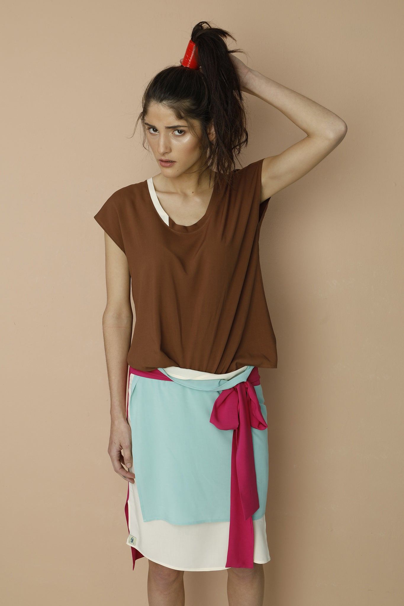 Wave top - Brown