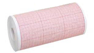 Mortara Eli 100 Red Grid Chart Paper (108mm) #9402-023 - fhmedicalservices