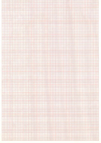 GE Marquette Z-Fold Red Grid Chart Paper with Blank Header #9402-024