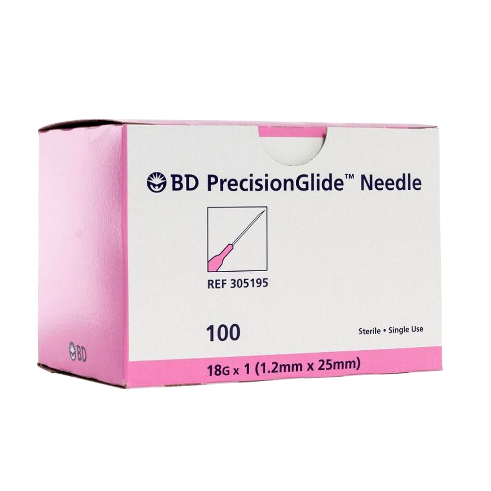 "BD #305195 Needle, 18G x 1"" Regular Bevel, Sterile, 100/bx - fhmedicalservices"