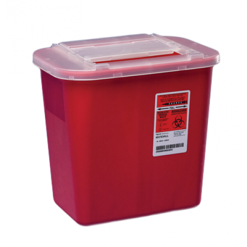 Covidien #31142222 – 2 Gallon Red Multi-Purpose Sharps Container with Slide Lid