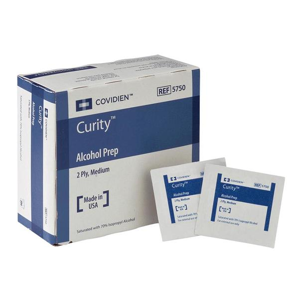 Covidien #5750 Medium Alcohol Prep Pads- 200 per box