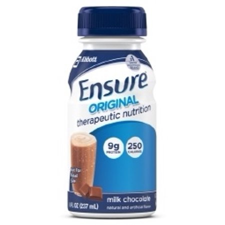 Abbott Nutrition #58293 Ensure Original Therapeutic Nutrition Shake, Milk Chocolate 8 oz. Bottle, Instutional