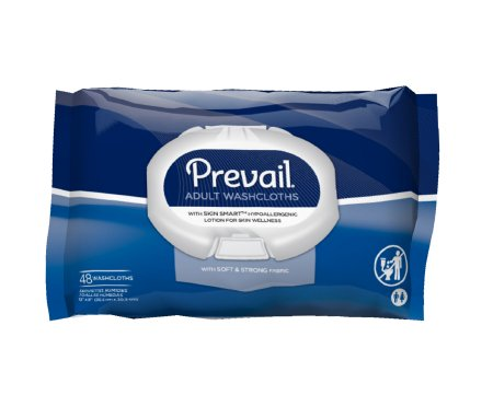 Personal Wipe Prevail #WW-710 Soft Pack Aloe / Vitamin E Scented 48 Count