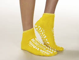 Albahealth ABH #80182 Extra Large Adult High Risk Slipper, Yellow - fhmedicalservices