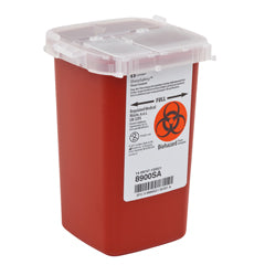 COVIDEIN #8900SA SHARPSAFETY™ SHARPS CONTAINER, PHLEBOTOMY, RED, 1 QUART - fhmedicalservices