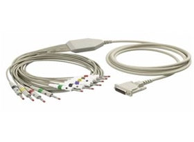 BURDICK MORTARA ELI SERIES 10 LEAD PATIENT CABLE WITH BANANA CONNECTORS #9293-032-52 - fhmedicalservices